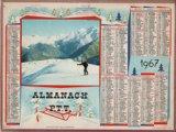 ALMANACH  des  P.T.T  カレンダー (1967)
