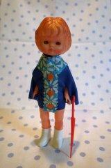 プラスティック レインコート人形 (花柄)